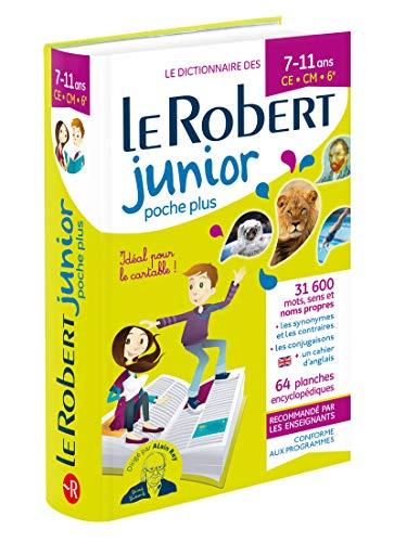 Dictionnaire Le Robert Junior Poche Plus - 7/11 ans - CE-CM-6e par Collectif