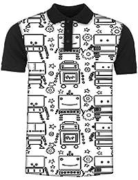 Snoogg Digit Bit Boy Pattern Men's Polo T-Shirt with Collar Stylish Half Sleeve (Cotton,Polyester)