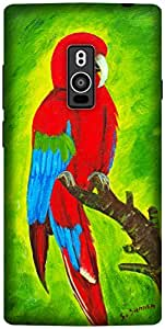 The Racoon Grip printed designer hard back mobile phone case cover for OnePlus 2. (Macaw)
