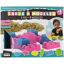 Coffret Avec 2 KG De Sable Magique - 6 Moules - 2 Accessoires coloris de sable aléatoire