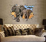 Liroyal Deko-Wandsticker 3D Elephant