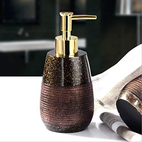 Marmor Textur Seifenspender mit Pumpe Creative Resin Storage Blttle 9oz Liquid Jar Haushaltswaren Hand Seifenspender for Badezimmer (Color : C) (Badezimmer Storage Jars)