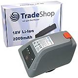 Trade-Shop Li-Ion Akku 18V / 2000mAh ersetzt Gardena 008A231 für Gardena 8025-20 Comfort Wand-Schlauchbox 35 roll-up automatic Li Elektische Schlauchtrommel
