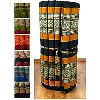 Preisvergleich für Asia Wohnstudio Kapok Rollmatte in 190cm x 75cm x 4,5cm der Marke LivAsia®, Liegematte bzw. Yogamatte, Thaikissen, Thaimatte als asiatische Rollmatratze