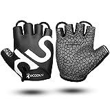 Draussen Fahrradhandschuhe Ergonomisches Blaues Fingerlos Gloves für Sport