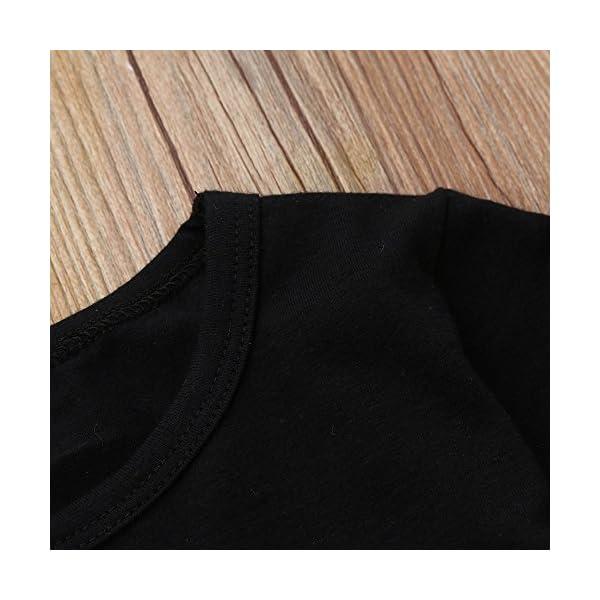 Cinnamou Bebe Niña Conjunto de Camiseta Vestido Tops y Pantonla Trajes de Dos Piezas Vestidos Arcoiris Manga largas… 4