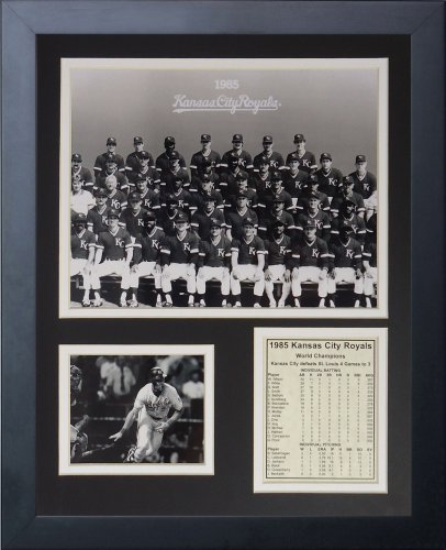 Legenden Sterben Nie 1985 Kansas City Royals Team gerahmtes Foto Collage, 11 x 35,6 cm - City-art-giclee Canvas