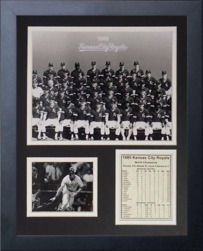 Legenden Sterben Nie 1985Kansas City Royals Team gerahmtes Foto Collage, 11x 35,6cm