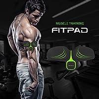 Echoss FITPAD Electrostimulateur de Training Musculaire Abdominaux, Appareil de Finess Automatique sans Fil Musculation Minceur Intelligent pour Sculpter Silhouette Elégante