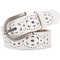 Cintura donna vintage in vera pelle di vacchetta Cintura moda donna in design a motivo vuoto con fibbia in lega per…