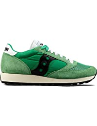 Saucony Mens Green Jazz Original Vintage Trainers