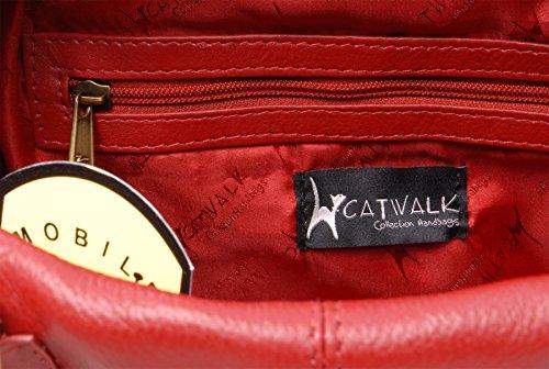 Borsa in pelle a spalla con chiusura a scatto di Catwalk Collection