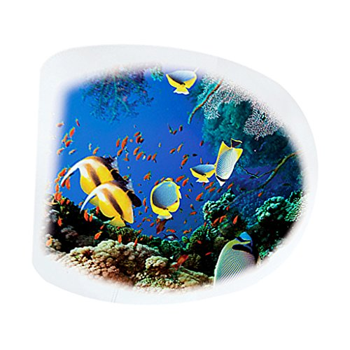 F Fityle WC Sitz Aufkleber Folienaufkleber Toilettensitz Bad WC Dekor Stickers-, Auswahl - Tropische (Tropische Zimmer Dekor)