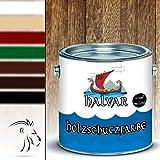 Halvar Holzschutzfarbe skandinavische Wetterschutzfarbe in Weiß, Beige, Grün, Schwedenrot, Rotbraun, Dunkelbraun & Schwarz Holz-Lack wetterbeständiger Langzeitschutz (5 L, Dunkelbraun)