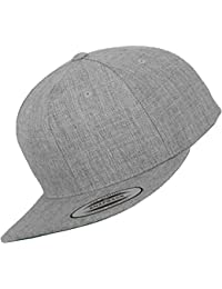 MASTERDIS Baseball Cap Flexfit Snapback, heather grey, One Size