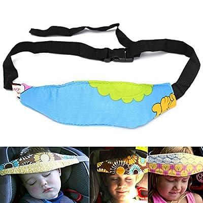 URAQT 2PCS Baby Kids Safety Head Support Hugger Toddler Car Seat Strap Nap Aid Holder Belt Neck Protection