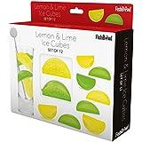 FISCHGLAS Wiederverwendbare Eiswürfel,, Zitrone & Limette, Set von 12
