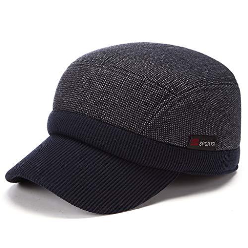 Winter Warmer Hut, Mütze im mittleren Alter - Herren Senior Dicke Baumwollmütze