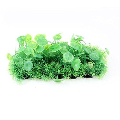 Aquarium Unterwasser-Landschaftsbau grünem Kunststoff Gras Rasen Mat Ornament (Grünes Gras Mat)