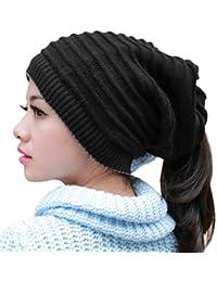 YJZQ Bonnet d hiver Chapeau et Snood Chaud Unisexe écharpe Multi-utilise 1  Cache-Cou égale 2 Lots Bonnet Tricoté et Tour Cou Jaquard… 3d02b591939