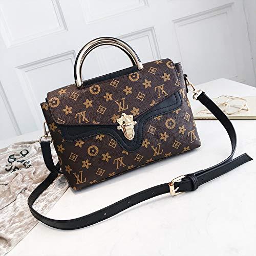 LFGCL Bags womenSimple and stylish Umhängetasche mit Briefverschluss, schwarz -