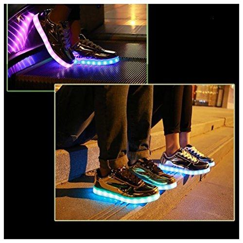 Star Männer kleines Schuhe Handtuch Glow Lade present Led Frauen American C18 Freizeitschuhe Unisex junglest® Leuchten Luminous Flagge Usb nw6FXFPx
