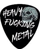 Aufkleber/Sticker Plektrum Heavy Fucking Metal