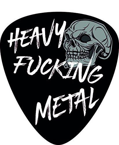 Aufkleber/Sticker Plektrum Heavy Fucking Metal -