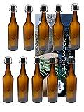 10 Stück 750 ml Braunglas Ölflaschen mit Bügel