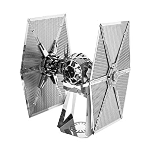 Fascinations- First Order Fighter Metal Earth - Maqueta metálica Star Wars Tie Special Forces, Color Plata (MMS267C2)
