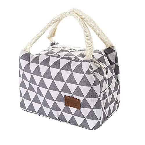 ☺HWTOP Tragbare Lunchpaket Isolationsbeutel Wärmeisolierte Lunchbox Tote Kühltasche Bento Pouch Lunch Container -