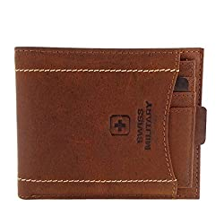 Swiss Military Brown Mens Wallet (LW26))