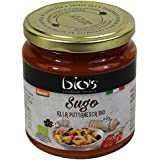 """BIO'S - Sauce Tomate """" Alla Puttanesca"""" avec Câpres et Olives Biologique Italien - DEMETER certifié biodynamique - 300gr"""