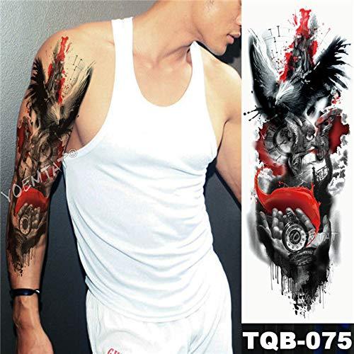 Handaxian 3pcsbig braccio manica tatuaggio blu rosa farfalla cuore impermeabile tatuaggio adesivo orologio da tasca tatuaggio fiore pieno
