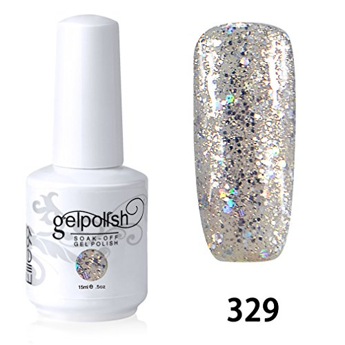 Elite99 Vernis A Ongles Gel UV Soak Off Base Top Nail Art Semi-Permanent Manucure 15ml 329