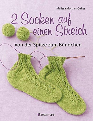 2 Socken auf einen Streich - von der Spitze zum Bündchen