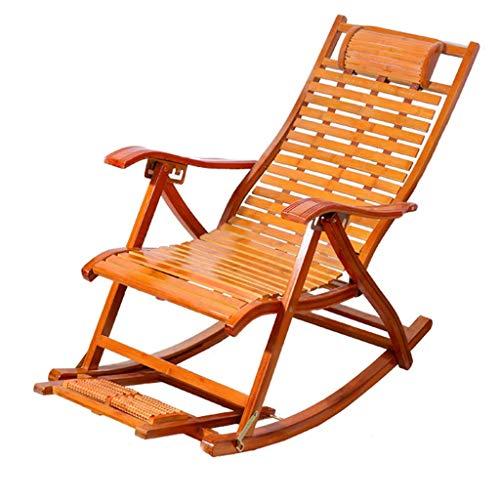 WJJJ Bamboo Recliner Chairs Adult Klappstuhl Napping Chair Home Frische Stühle Alter Mann Stuhl Frühstücksstuhl Pause -