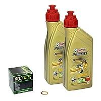 Castrol power1 (10W – 40 huile yamaha raptor de modèles r 700 13-14 hiFlo temps, filtre à huile et joint d'étanchéité pas cher