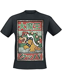 Nintendo T-Shirt Bowser Kanji, schwarz