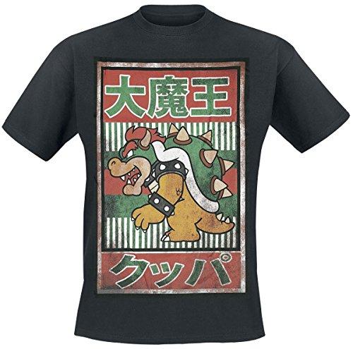 Nintendo Vintage Bowser T-Shirt nero XS