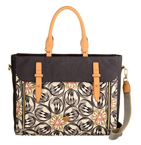 Preisvergleich Produktbild Oilily Damen Office Bag Laptop Tasche, Grau (Charcoal), 12 x 31 x 40 cm