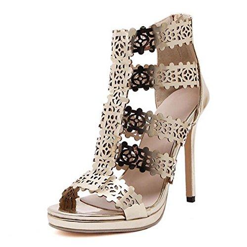 L@YC Femmes Talons Printemps Club Chaussures Molleton Robe Talon aiguilles autres Or gold