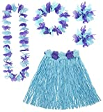 Generique - Blau-Violettes Hawaii-Outfit für Damen Einheitsgröße