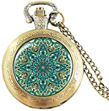 Vbnmda 1 Pieza/Lote Steampunk Henna Yoga India joyería Flor Mandala Lotus Reloj de...