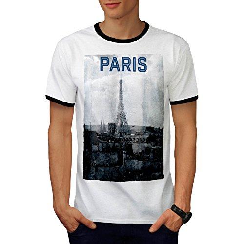 Paris Jahrgang Mode Alt Frankreich Herren M Ringer T-shirt | (Kostüm Frankreich Männlich)