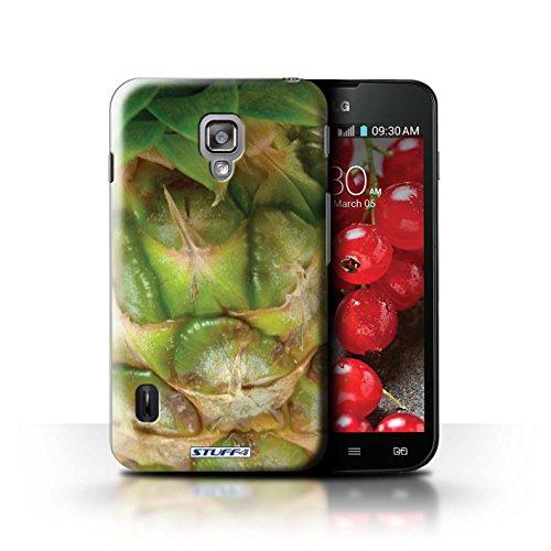 Kobalt® Imprimé Etui / Coque pour LG Optimus L7 II Dual / Orange / Peau conception / Série Fruits Ananas