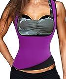 Hot Thermo Schweiß Neopren Shapers Slimming Gürtel Taillenmieder Girdle für Gewicht Loss (XXX-Large, Violett)