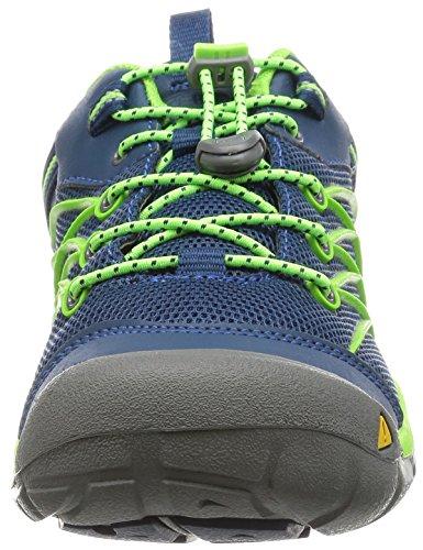 Keen Chandler Cnx, Chaussures de Randonnée Basses Mixte Enfant Multicolore (Poseidon/Jasmine Green)