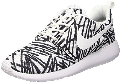 Nike Damen Wmns Roshe One Print Sneakers, Weiß