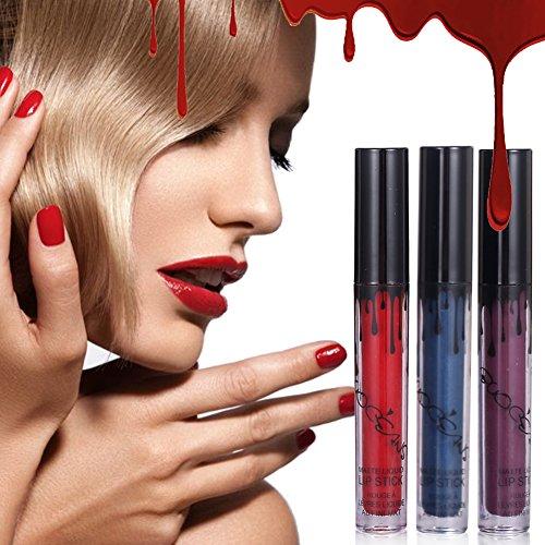 Rossetti, Lucidalabbra, Liquido rossetto, 16 Colori rossetto matte lungo impermeabile duratura Matte Lip Gloss, Liquid Lipstick, Sexy Labbra Lucido Rossetti